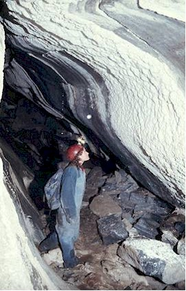 Moonmilk in the Nakimu Caves Parks Canada photo