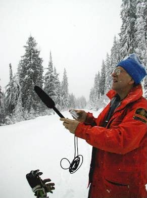John Woods is developing recording techniques as a non-intrusive way of monitoring bird populations. Michael Morris / Parks Canada photo.